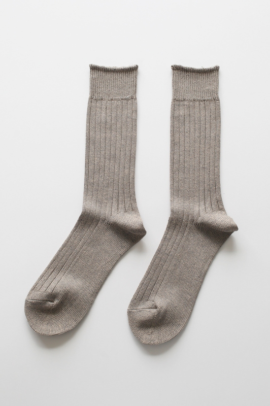 RoToTo | LINEN COTTON RIB SOCKS -MEN'S&LADY'S-